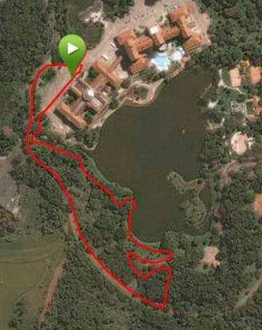 Vista aérea da pista de XCC (Short Track)