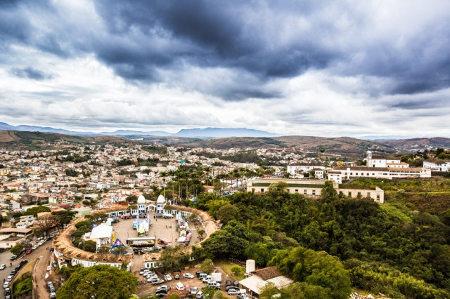 Vista aérea de Congonhas (MG) - Crédito: Bruno Senna / CIMTB Levorin