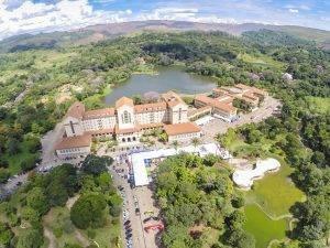 Vista área do Tauá Grande Hotel, em Araxá (Crédito: Bruno Senna/CIMTB)